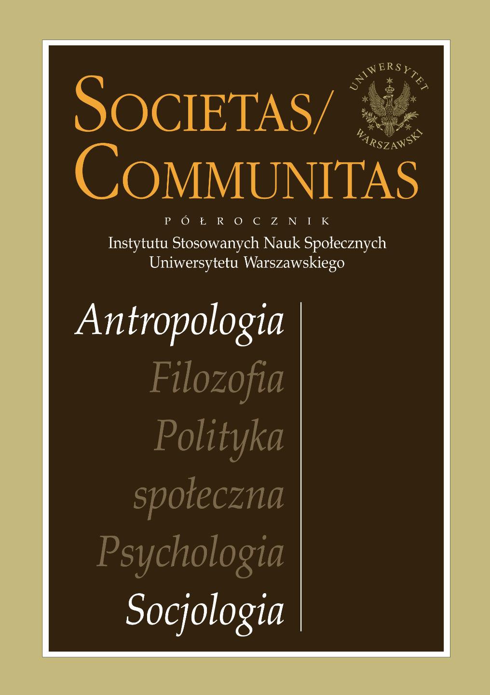 Okładka Societas Communitas